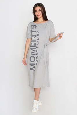 "Платье ""Now"" , серый меланж"
